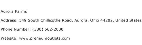 Aurora Farms Address Contact Number