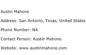 Austin Mahone Address Contact Number