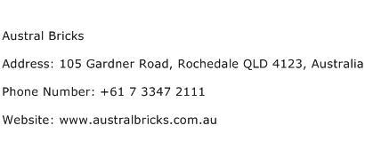 Austral Bricks Address Contact Number