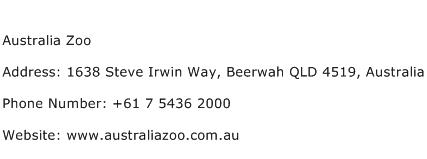 Australia Zoo Address Contact Number