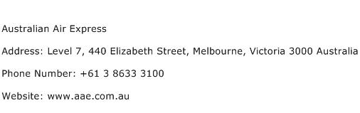 Australian Air Express Address Contact Number