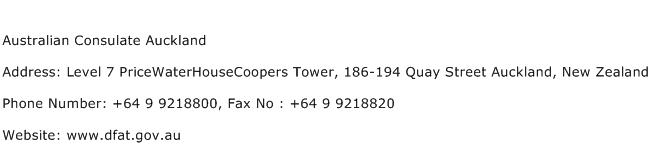 Australian Consulate Auckland Address Contact Number