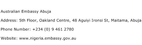 Australian Embassy Abuja Address Contact Number