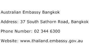 Australian Embassy Bangkok Address Contact Number