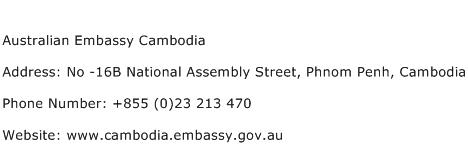 Australian Embassy Cambodia Address Contact Number