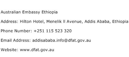 Australian Embassy Ethiopia Address Contact Number