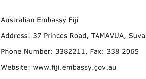 Australian Embassy Fiji Address Contact Number