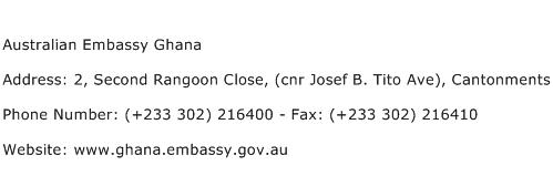 Australian Embassy Ghana Address Contact Number