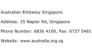 Australian Embassy Singapore Address Contact Number