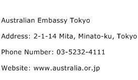 Australian Embassy Tokyo Address Contact Number