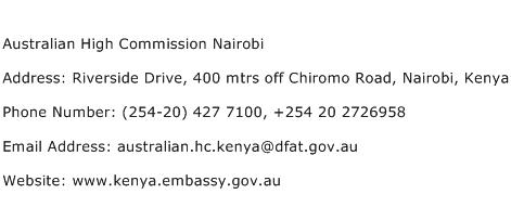 Australian High Commission Nairobi Address Contact Number