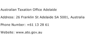 Australian Taxation Office Adelaide Address Contact Number
