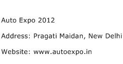 Auto Expo 2012 Address Contact Number