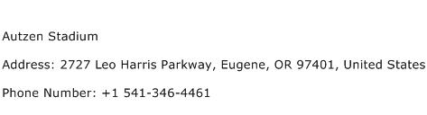 Autzen Stadium Address Contact Number