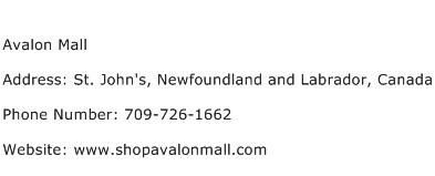 Avalon Mall Address Contact Number