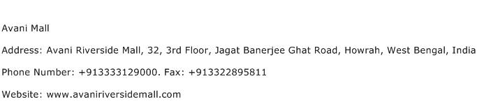 Avani Mall Address Contact Number