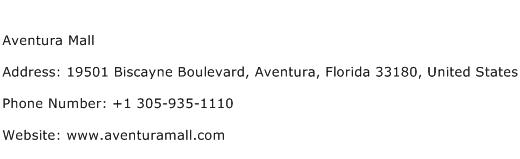 Aventura Mall Address Contact Number