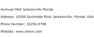Avenues Mall Jacksonville Florida Address Contact Number