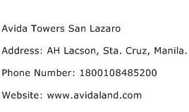 Avida Towers San Lazaro Address Contact Number