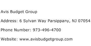 Avis Budget Group Address Contact Number