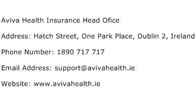 Aviva Health Insurance Head Ofice Address Contact Number