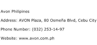 Avon Philipines Address Contact Number