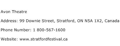 Avon Theatre Address Contact Number