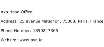 Axa Head Office Address Contact Number