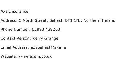 Axa Insurance Address Contact Number