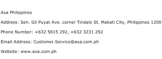 Axa Philippines Address Contact Number