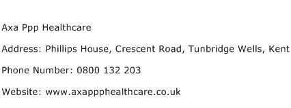 Axa Ppp Healthcare Address Contact Number