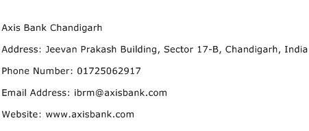 Axis Bank Chandigarh Address Contact Number