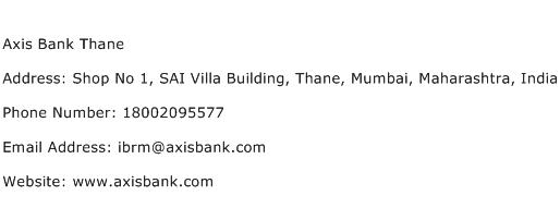 Axis Bank Thane Address Contact Number