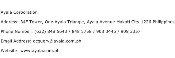 Ayala Corporation Address Contact Number