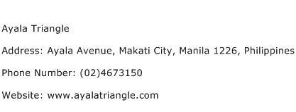 Ayala Triangle Address Contact Number