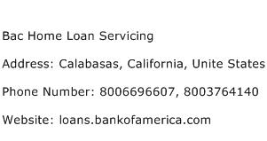 Bac Home Loan Servicing Address Contact Number