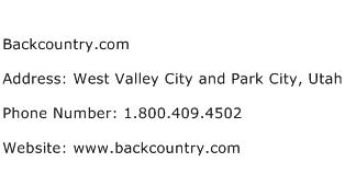 Backcountry.com Address Contact Number