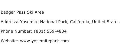 Badger Pass Ski Area Address Contact Number
