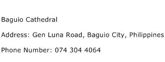 Baguio Cathedral Address Contact Number