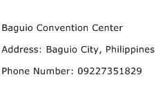 Baguio Convention Center Address Contact Number