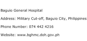 Baguio General Hospital Address Contact Number