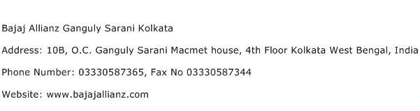 Bajaj Allianz Ganguly Sarani Kolkata Address Contact Number