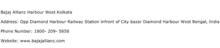 Bajaj Allianz Harbour West Kolkata Address Contact Number