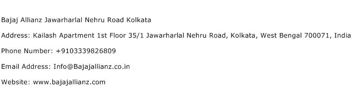 Bajaj Allianz Jawarharlal Nehru Road Kolkata Address Contact Number
