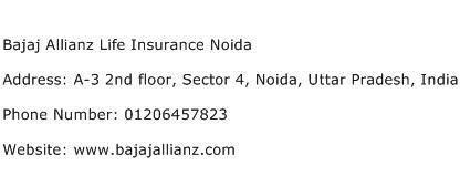 Bajaj Allianz Life Insurance Noida Address Contact Number