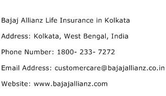 Bajaj Allianz Life Insurance in Kolkata Address Contact Number