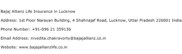 Bajaj Allianz Life Insurance in Lucknow Address Contact Number