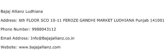 Bajaj Allianz Ludhiana Address Contact Number