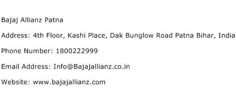Bajaj Allianz Patna Address Contact Number