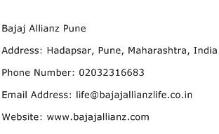 Bajaj Allianz Pune Address Contact Number